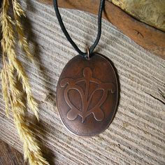 Sea Turtle Pendant - Handmade Copper Jewelry - Rustic Etched OVAL Copper - J11 by RusticSpoonful on Etsy
