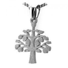 Stainless Steel Tree of Life Sandblast Pendant
