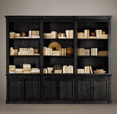 Library Triple Shelving - a bit bulky IMO but it's nice and might be nice in game room.  but i wouldn't get this if I were you.