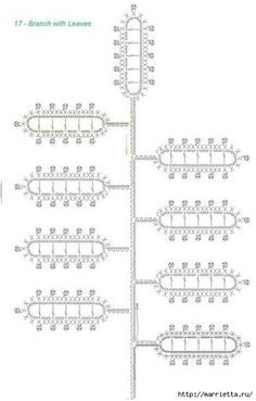 Вяжем ЦВЕТЫ КРЮЧКОМ. Схемы (18) (413x646, 106Kb)