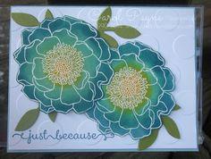 Stampin' Up!,Blended Bloom,sponge daubers,A Dozen Thoughts,Large Polka Dot folder www.carolpayne.stampinup.net