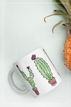 Kaktusgirlande – The Lovely Things Lovely Things, Mugs, Tableware, Cute Mugs, Cactus, Tumbler, Dinnerware, Cups, Dishes