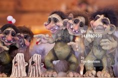 Trolls in Gift Shop in Tromso, Norway