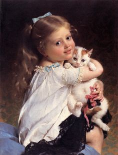 Her Best Friend by Emile Munier (1840 – 1895, French)