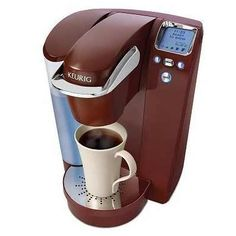 This is the Keurig I own and love. Making a delicious cup of coffee every morning is as easy as pushing a button.