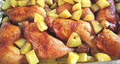 Frango assado com batatas... Adorei a receita, principalmente pela praticidade!!!  :)