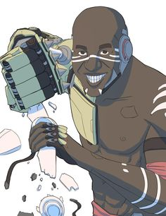 """""""Only through conflict do we OIL UP"""" #doomfist #funny"""