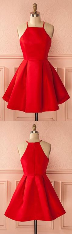 A line Homecoming Dresses, Red Homecoming Dresses, Short Homecoming Dresses With Pleated Sleeveless Mini, A Line dresses, Short Homecoming Dresses, Red Mini dresses, Short Red dresses, Red Short Dresses, Homecoming Dresses Short, Homecoming Dresses With Straps, Red A Line dresses, Short Red Homecoming Dresses