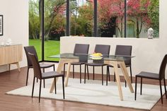 Exclusive Tivoli Oak and Glass Dining Set