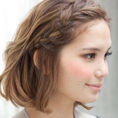 Braid hairstyle for short hair. #braid #hairstyle #shorthair