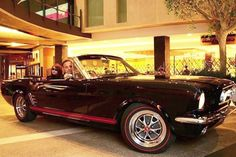 Mustangs in Black 1966 GT Convertible Ford Mustang out at Highpoint Shopping Centre in Melbourne for a promotional appearance.
