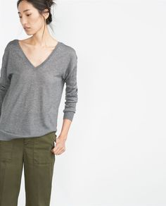 Image 1 of DOUBLE V-NECK SWEATER from Zara