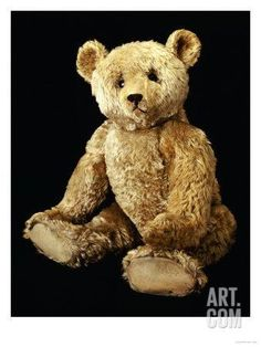 Fine Steiff Pale Golden Plush Covered Teddy Bear with Large Deep Set Black Button Eyes, circa 1910 Giclee Print by Steiff at Art.com