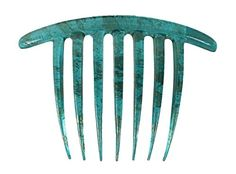 Caravan French Twist Comb Hand Painted in Turquoise and Gold Vine * Check this awesome product by going to the link at the image.(This is an Amazon affiliate link)
