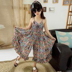 Kids Dresses For Girls Fashion Girls Dresses Summer 2016 Floral Bohemian Girl Dress Princess Novelty Kids Clothes Girls Clothes