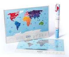 Travel Map Silver - уникальная скретч карта мира на английском языке