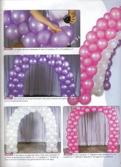 Resultado de imagen para arreglos de globos para 15 años