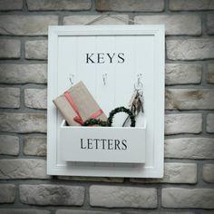Wieszak na Klucze Letters, Vintage, Decor, Decoration, Letter, Vintage Comics, Lettering, Decorating, Deco