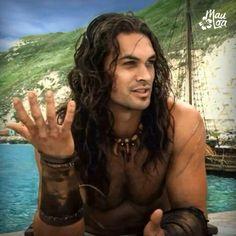 ~On the set of Conan the Barbarian~Jason Momoa Jason Momoa Aquaman, Aquaman Actor, Pretty Men, Gorgeous Men, Gorgeous Hair, Native American Men, Conan The Barbarian, Good Looking Men, Male Beauty