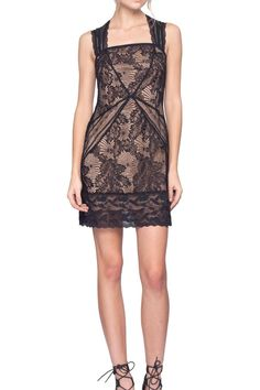 """This gorgeous dress is perfect for any cocktail or dinner evening your holiday season may bring. The lace has a nice amount of stretch to it for added comfort and style.    Measures: 36"""" L; 17.5"""" bust on size 8   Era Lace Dress by Gentle Fawn. Clothing - Dresses - Cocktail Canada"""