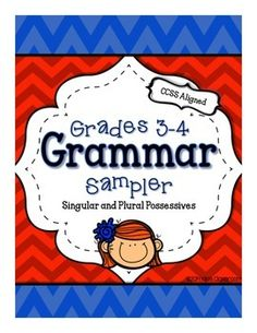 Parts of Speech: Grammar Sampler FREEBIE  {Singular & Plural Possessive Nouns}