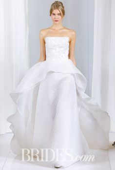 Brides.com: Angel Sanchez - Fall 2016 Wedding dress by Angel SanchezPhoto: Luca Tombolini / Indigitalimages.com