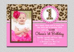 First birthday invitation wording and 1st birthday invitations leopard birthday invitation leopard 1st birthday invitation printable 1500 via etsy 1st filmwisefo