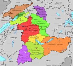 Carte du canton de Glaris CH Pinterest