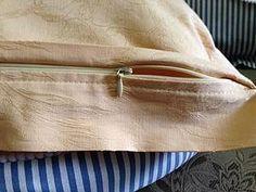 Как сшить наволочку с потайной застежкой-молнией - Ярмарка Мастеров - ручная работа, handmade