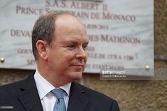 Prince Albert II of Monaco unveils a plaque in honor of his ancestors, in Granville northwestern France, on June 15, 2015.