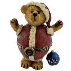 Boyds Bears Resin NICKIE PLUMP N WADDLE Christmas Treasure Box Santa 4014771