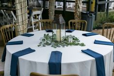 Classic Wedding CFEC Decor: Lantern, Navy Napkins, Frosted Votives P. Texas Hill Country, Tree Lighting, Twinkle Lights, Girl Photography, Green And Gold, Wedding Styles, Lanterns, Wedding Venues, Napkins