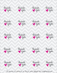 Free Printable! Thank You Favor Tags : Hey Love Designs
