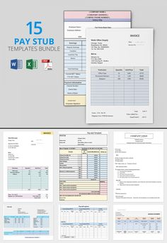 Freebie Of The Day   Pay Stub Template Bundle