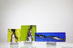 Group of bullseye glass castings by Ana María Nava