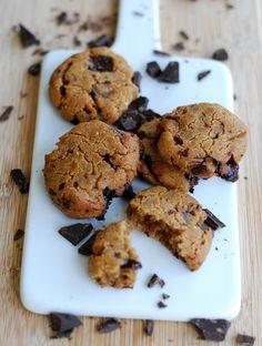 Healthy/hälsosamma chocolate chip peanut butter cookies (gluten…