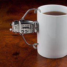Robot tea infuser. Adorable.