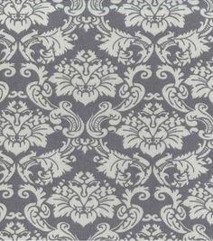 45'' Home Essentials Print Fabric Damask Grey