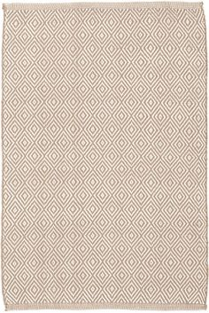 Petit Diamond Khaki/Ivory Inddor/Outdoor Rug - for silver sage room