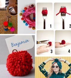 Dicas para fazer pompom e ideias para usar na decoração e looks criativos.
