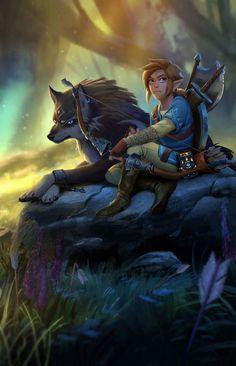 The Legend of Zelda | Breath of the Wild | Link & Wolf-Link