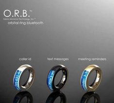 ORB Bluetooth way cool ring.  Also check out the vendor website; http://hybratech.com/products/orb/