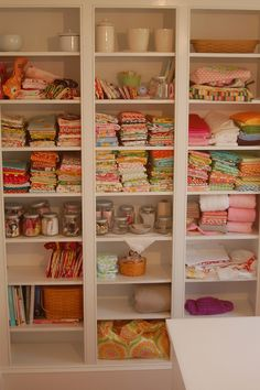 fabric storage by amydunn, via Flickr
