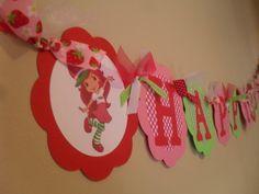 Strawberry Shortcake Happy Birthday Banner