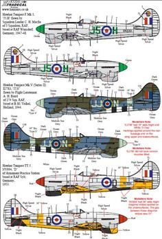 Xtradecal Item No. X32061 - Hawker Tempest Mk.V Review by Brett Green Ww2 Fighter Planes, Air Fighter, Ww2 Planes, Fighter Aircraft, Aircraft Photos, Ww2 Aircraft, Military Aircraft, Hawker Tempest, Hawker Typhoon