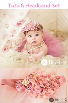 Most adorable tutu and headband set combo for little princess. Perfect for first birthday pictures and smash cake pictures. #affiliate