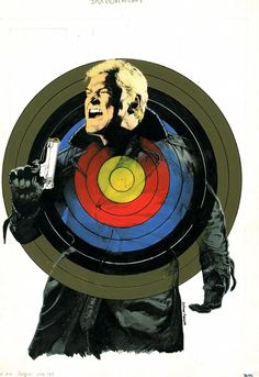 Button Man - Classic Cover Art: Prog 789 Harry Exton by co-creator, the astonishing Arthur Ranson. This fantastic must-read thriller written by John Wagner (Judge Dredd, A History Of. Art Spiegelman, 2000ad, Comic News, Judge Dredd, Rockabilly Fashion, Rockabilly Style, Crossed Fingers, Comic Artist, Cover Art
