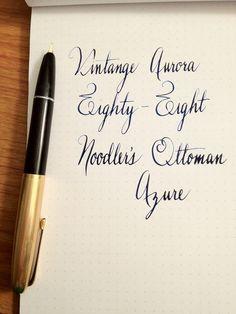 Aurora Fountain Pen with Noodler's Ottoman Azure Ink