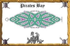 Total Defiance Cuff/Bracelet  Miyuki Delica by PiratesOfTheBeads, $6.00