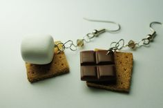Smore Earrings Miniature Food Earrings. $18.00, via Etsy.